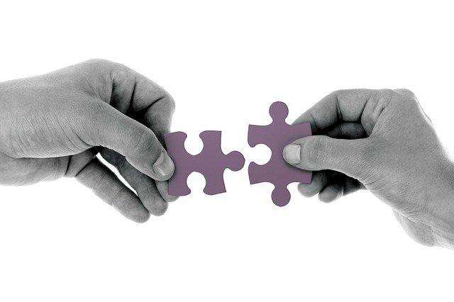 skládání puzzle
