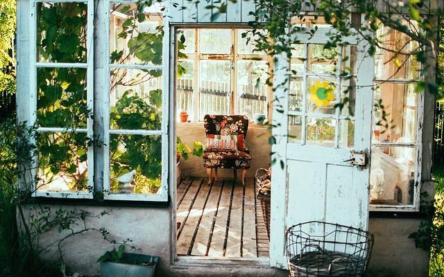 veranda na chatě