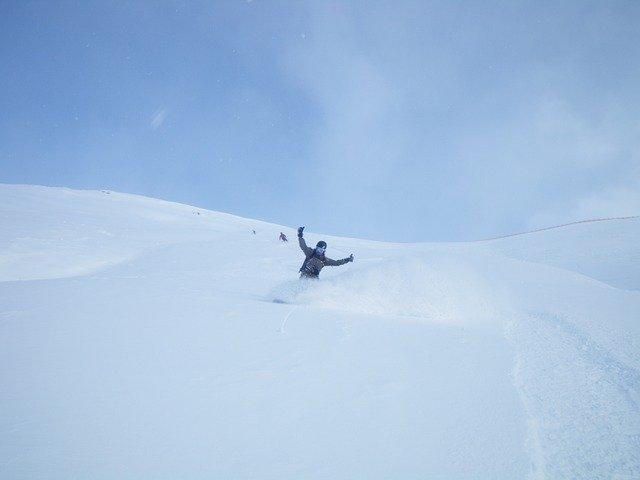 spokojený lyžař