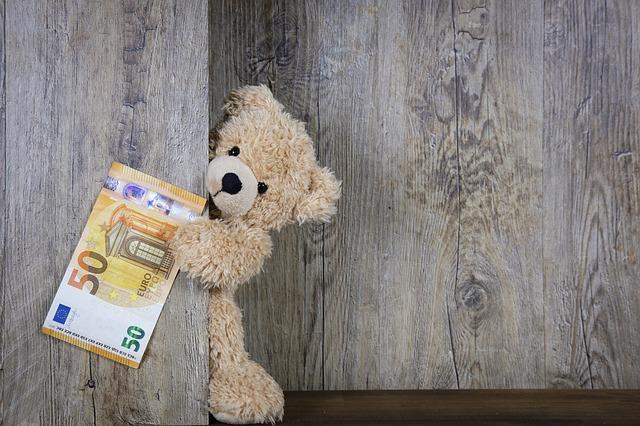 bankovka a plyšák