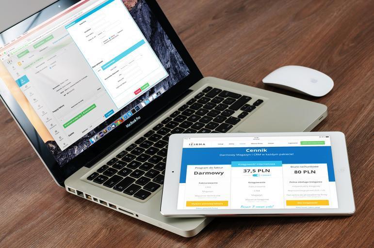 otevřená nabídka na PC a tabletu