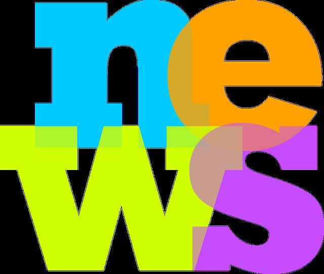 Barevný reklamní nápis NEWS